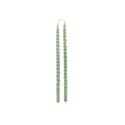 Slim Swirl dinerkaars kleur dusty green per 2