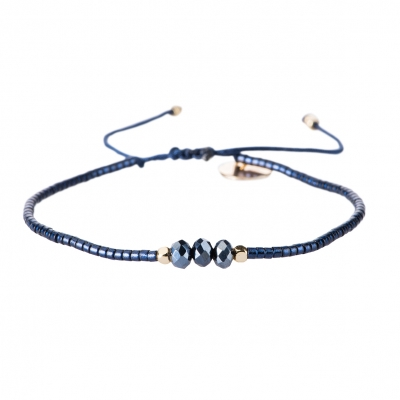 Evi blue gold armband