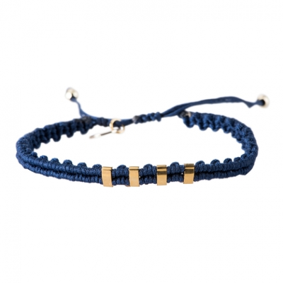 Scottie blue gold armband