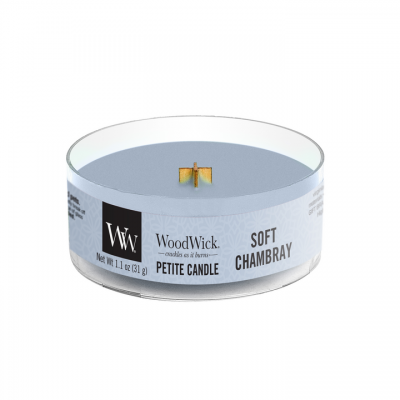 Woodwick Soft Chambray Petite Candle