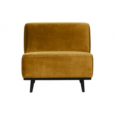 Statement fauteuil fluweel honing geel Be Pure Home