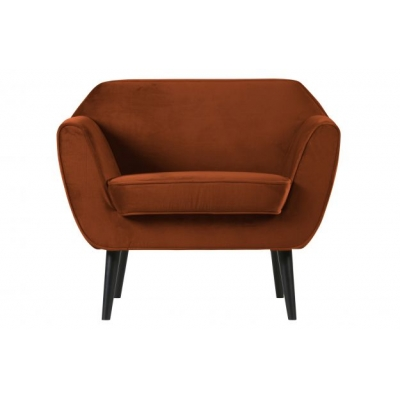 Rocco fauteuil fluweel roest