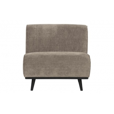 Statement fauteuil platte brede rib clay