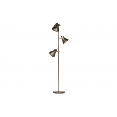 Triplet staande lamp metaal antique brass