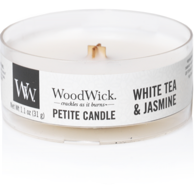 Woodwick White Tea & Jasmine Petite Candle